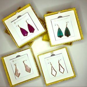 4 pairs of Kendra Scott earrings